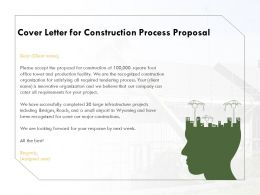 Cover Letter For Construction Process Proposal Ppt Powerpoint Presentation Diagrams