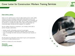 Cover Letter For Construction Workers Training Services Knowledge Ppt Powerpoint Presentation Slide