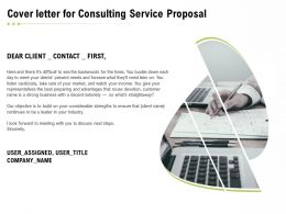 Cover Letter For Consulting Service Proposal Ppt Powerpoint Presentation Slides Ideas