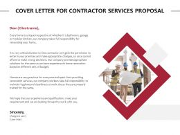 Cover Letter For Contractor Services Proposal Ppt Powerpoint Slide