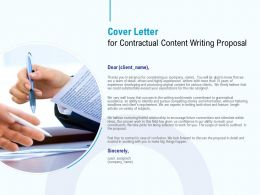 Cover Letter For Contractual Content Writing Proposal Ppt Powerpoint Presentation Layouts Vector