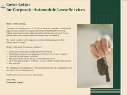 Cover Letter For Corporate Automobile Lease Services Ppt File Example Introduction