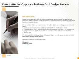 Cover Letter For Corporate Business Card Design Services Ppt Gallery Example