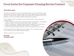 Cover Letter For Corporate Cleaning Service Contract Ppt Powerpoint Presentation Ideas
