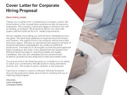 Cover Letter For Corporate Hiring Proposal Ppt Powerpoint Presentation Icon Graphics