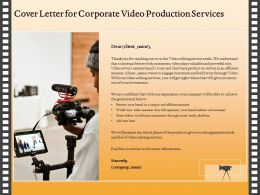 Cover Letter For Corporate Video Production Services Ppt Topics