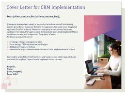 Cover Letter For CRM Implementation Management Ppt Infographics
