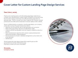 Cover Letter For Custom Landing Page Design Services Ppt File Display