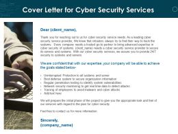 Cover Letter For Cyber Security Services Ppt Powerpoint Presentation Visuals