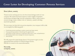 Cover Letter For Developing Customer Persona Services Ppt Powerpoint Professional