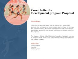 Cover Letter For Development Program Proposal Ppt Powerpoint Presentation Visual Aids Summary