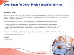 Cover Letter For Digital Media Consulting Services Ppt Clipart