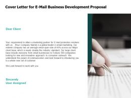 Cover Letter For E Mail Business Development Proposal Agenda Ppt Powerpoint Presentation Model Introduction