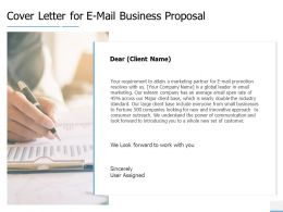 Cover Letter For E Mail Business Proposal Agenda Ppt Powerpoint Portfolio