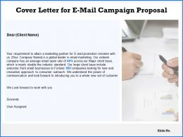 Cover Letter For E Mail Campaign Proposal Ppt Powerpoint Presentation Slideshow