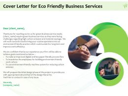 Cover Letter For Eco Friendly Business Services Ppt Powerpoint Presentation Gallery Skills