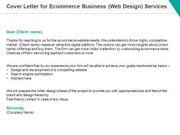 Cover Letter For Ecommerce Business Web Design Services Ppt Powerpoint Presentation Slides Maker