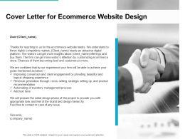 Cover Letter For Ecommerce Website Design Ppt Powerpoint Presentation