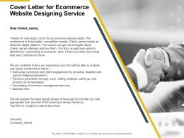 Cover Letter For Ecommerce Website Designing Service Team Ppt Slides