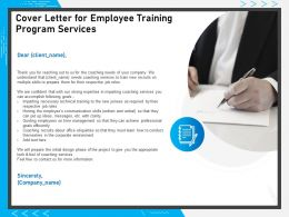 Cover Letter For Employee Training Program Services Information Ppt Powerpoint Presentation Styles Visuals