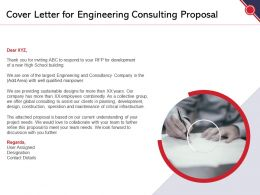 Cover Letter For Engineering Consulting Proposal Ppt Powerpoint Presentation Icon Themes