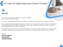 Cover Letter For Engineering Project Proposal Template Ppt Powerpoint Presentation Aids