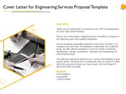 Cover Letter For Engineering Services Proposal Template Ppt Powerpoint Presentation Graphics