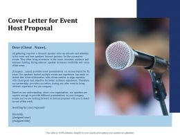 Cover Letter For Event Host Proposal Ppt Powerpoint Presentation Background