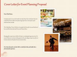 Cover Letter For Event Planning Proposal Ppt Powerpoint Presentation Inspiration