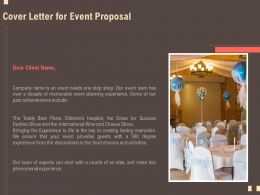 Cover Letter For Event Proposal Planning Ppt Powerpoint Presentation Icon