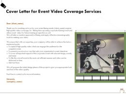 Cover Letter For Event Video Coverage Services Ppt Powerpoint File Templates