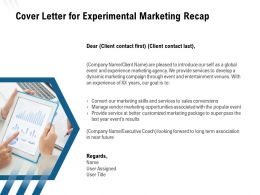 Cover Letter For Experimental Marketing Recap Ppt Powerpoint Presentation Good