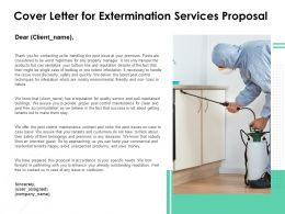 Cover Letter For Extermination Services Proposal Ppt Layouts Topics