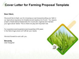 Cover Letter For Farming Proposal Template Ppt Powerpoint Slide Download
