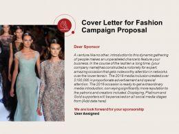Cover Letter For Fashion Campaign Proposal Ppt Powerpoint Presentation File Portrait