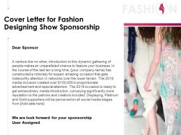 Cover Letter For Fashion Designing Show Sponsorship Powerpoint Presentation Gallery