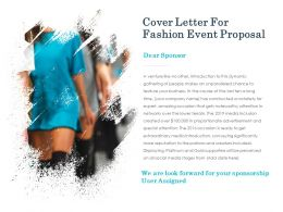 Cover Letter For Fashion Event Proposal Ppt Introduction