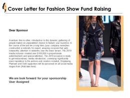 Cover Letter For Fashion Show Fund Raising Ppt Powerpoint Presentation
