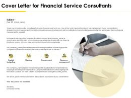 Cover Letter For Financial Service Consultants Ppt Powerpoint Topics