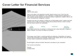 Cover Letter For Financial Services Agenda Ppt Powerpoint Presentation Outline Objects