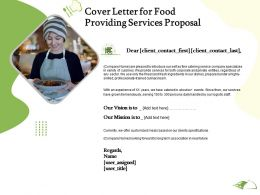 Cover Letter For Food Providing Services Proposal Ppt Powerpoint Presentation Backgrounds
