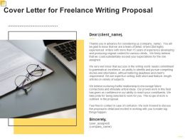 Cover Letter For Freelance Writing Proposal Ppt Powerpoint Presentation Gallery Deck
