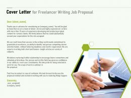 Cover Letter For Freelancer Writing Job Proposal Ppt Powerpoint Presentation Skills