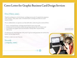 Cover Letter For Graphic Business Card Design Services Ppt Icon