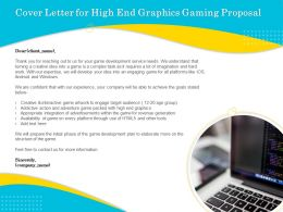 Cover Letter For High End Graphics Gaming Proposal Ppt Outline
