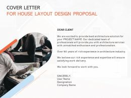 Cover Letter For House Layout Design Proposal Ppt Layouts Inspiration