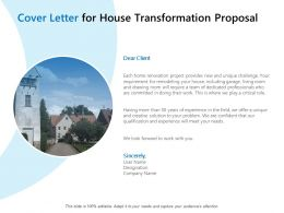 Cover Letter For House Transformation Proposal Ppt Powerpoint Icon Example