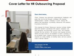 Cover Letter For HR Outsourcing Proposal Ppt Powerpoint Presentation Portfolio Example