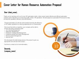 Cover Letter For Human Resource Automation Proposal Ppt File Example