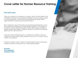 Cover Letter For Human Resource Training C1077 Ppt Powerpoint Presentation File